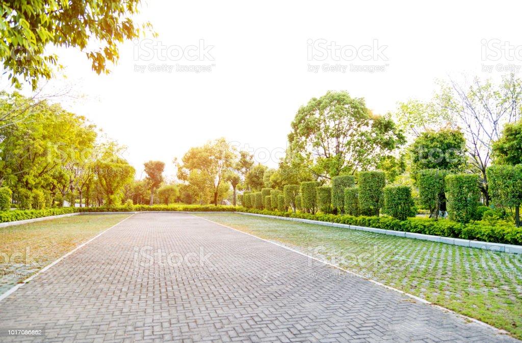 Leeren Parkplatz in öffentlichen park – Foto