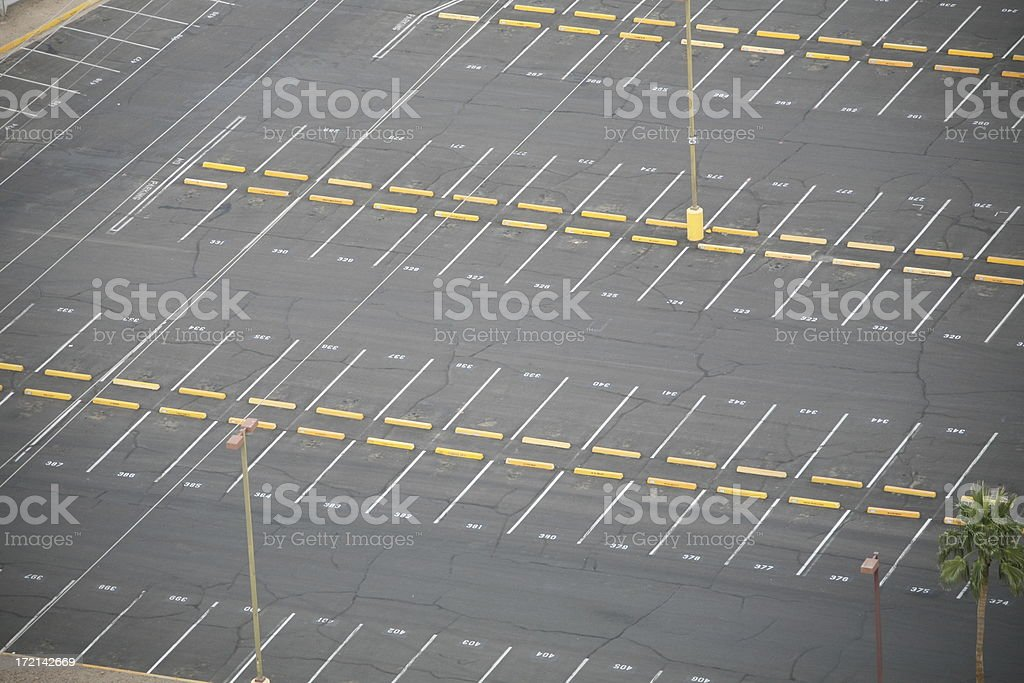 Empty Parking lot. stock photo
