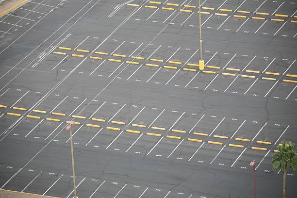 Empty Parking lot. stock photo