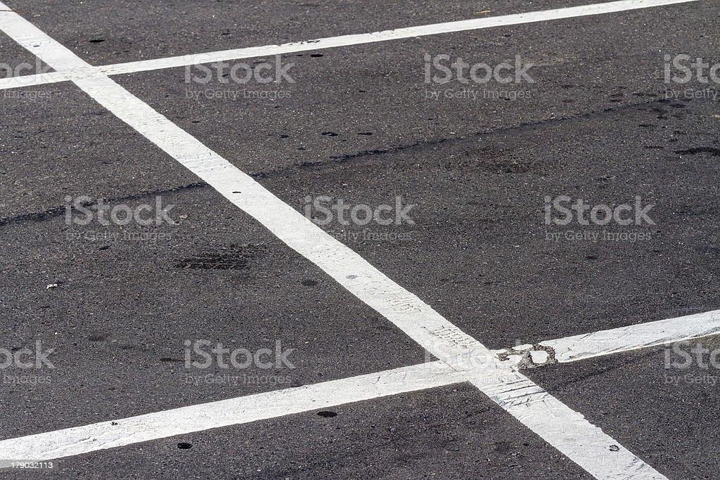 Empty parking lot royalty-free stock photo