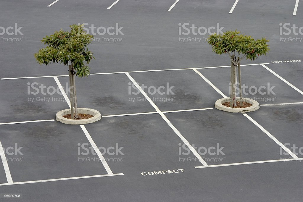 Empty parking lot royalty-free stock photo