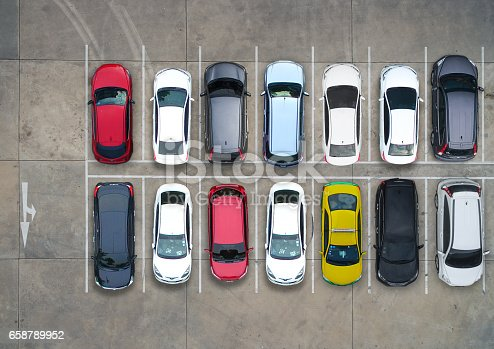 istock Empty parking lots, aerial view. 658789952