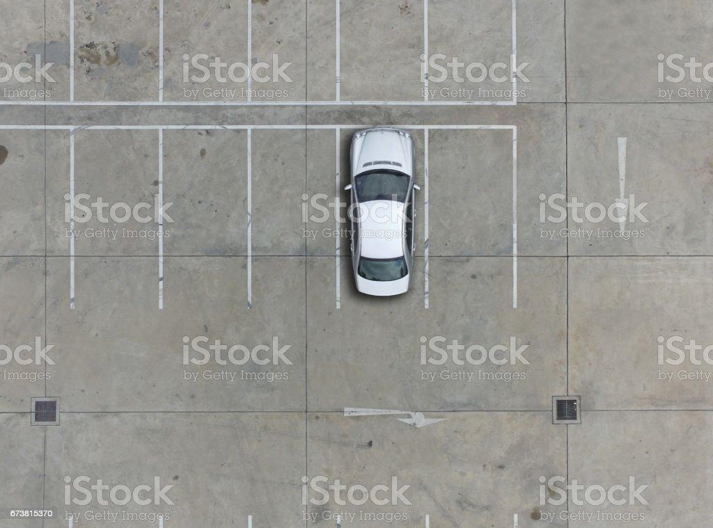 Vide places de stationnement, vue aérienne. photo libre de droits