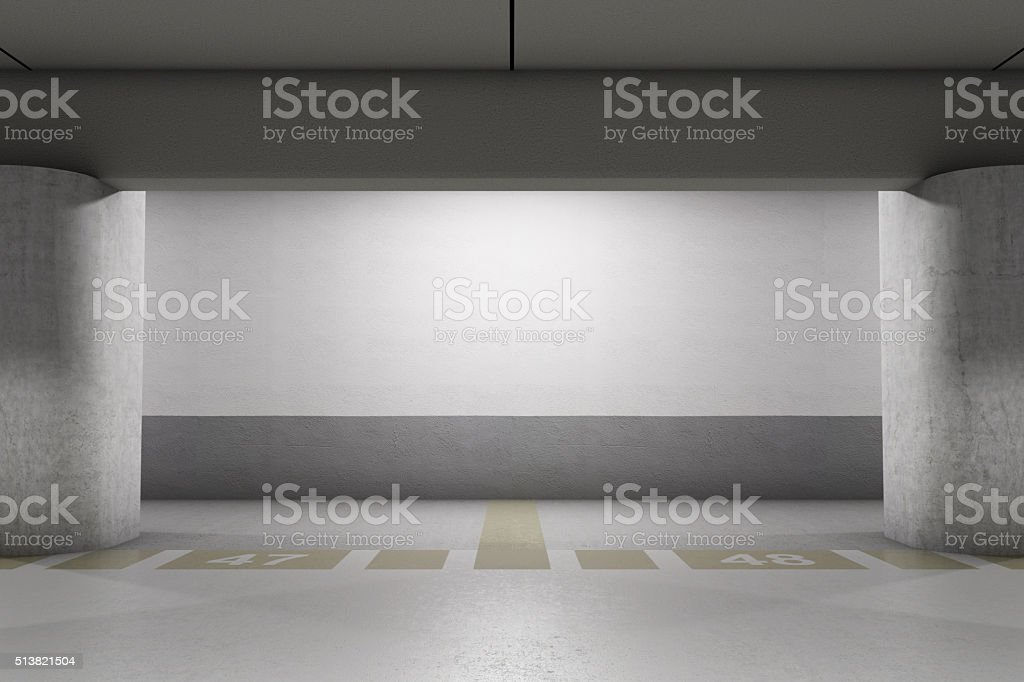 Empty parking stock photo