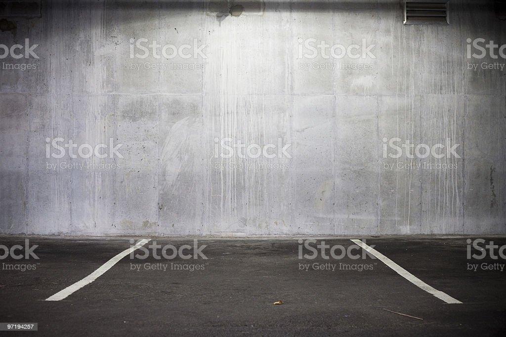 Empty parking spot stock photo