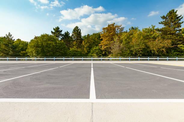leeren Parkplatz Oberdeck, Deutschland – Foto