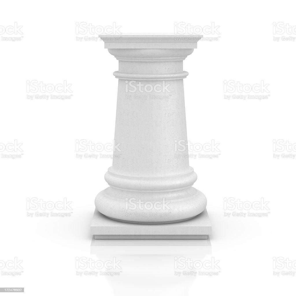 Empty pedestal on white stock photo