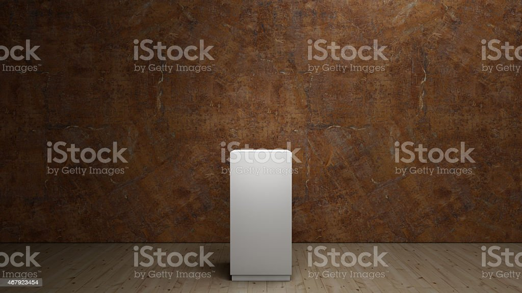 empty pedestal stock photo