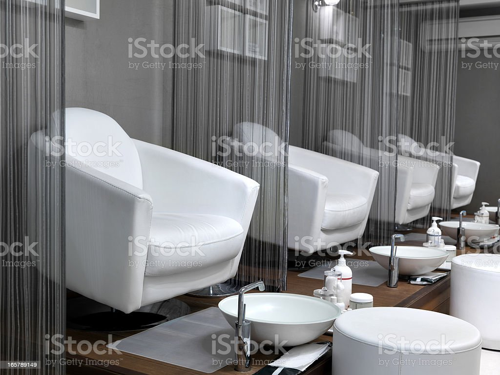 Empty Pedicure Seats (Click for more) stock photo