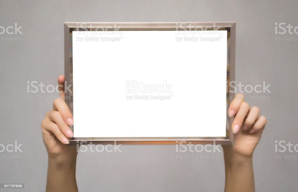 Empty photo frame border. stock photo