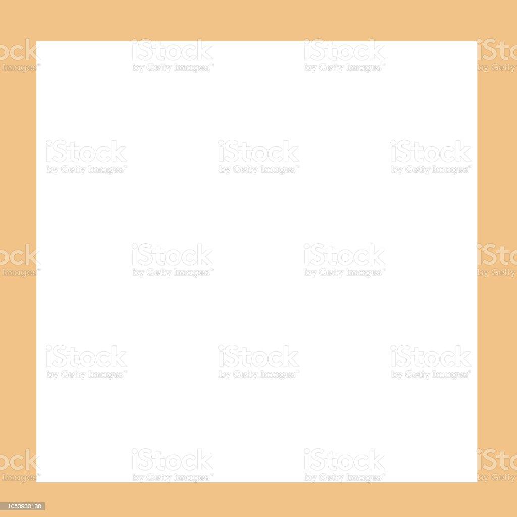 Empty photo frame insulated white background stock photo