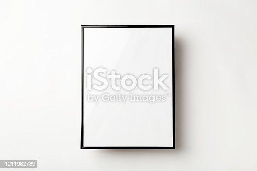 Empty photo frame on a white backgrounds. Copy space concepts