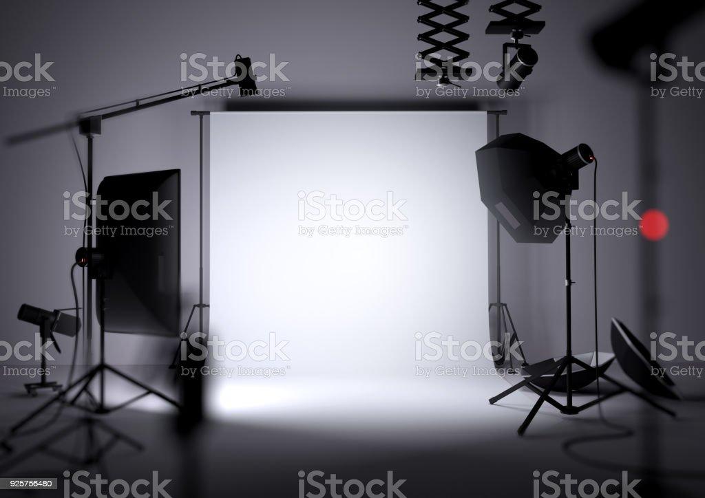 Leere Foto-Studio-Hintergrund – Foto