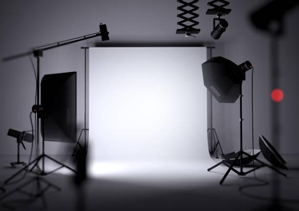 Empty Photo Studio Background stock photo