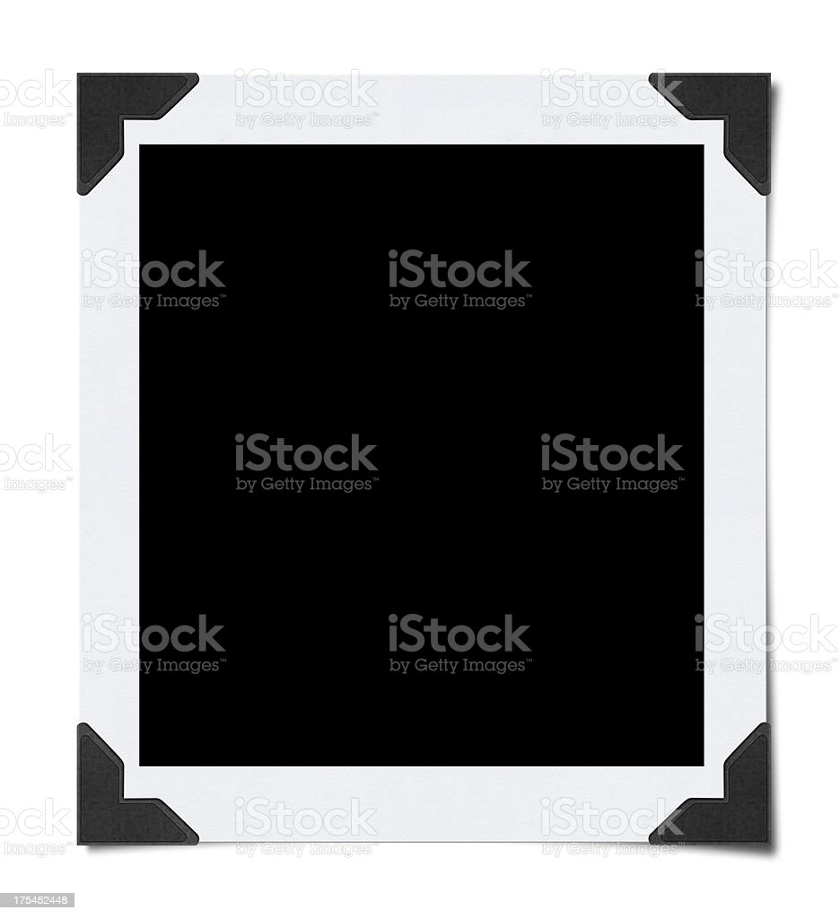 Empty Photo with Corners (Clipping Path) stock photo