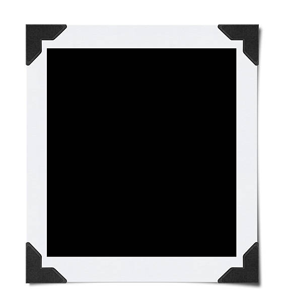 empty photo with corners (clipping path) - photo corner stock photos and pictures