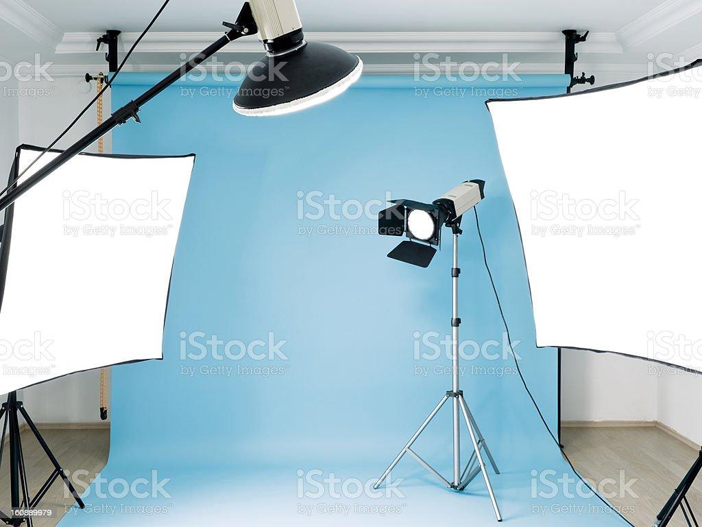 Empty photographic studio