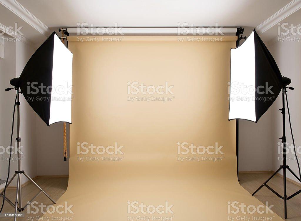 Empty photographic studio stock photo