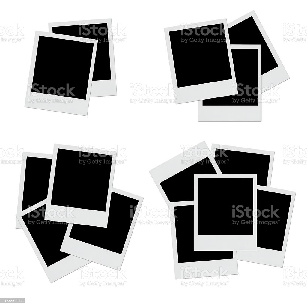 Empty Photos layout royalty-free stock photo
