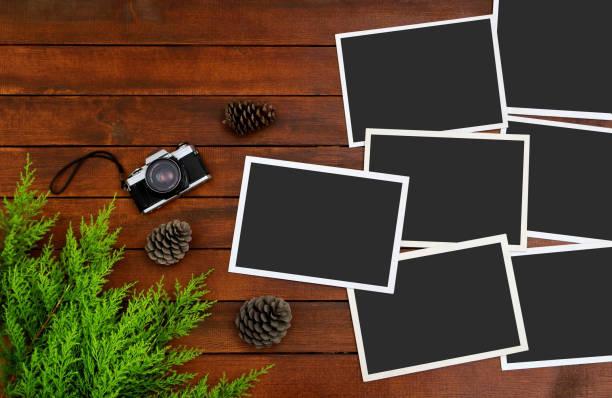 Photos de vides sur le fond de bois - Photo