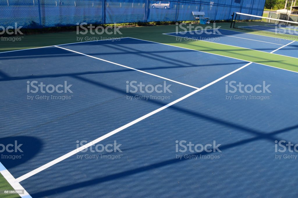 Empty pickleball courts stock photo
