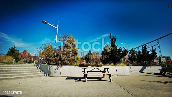 1048926386 istock photo Empty Picnic Table 1215437875