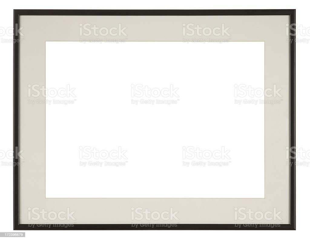 Empty picture frame isolated on white background stock photo