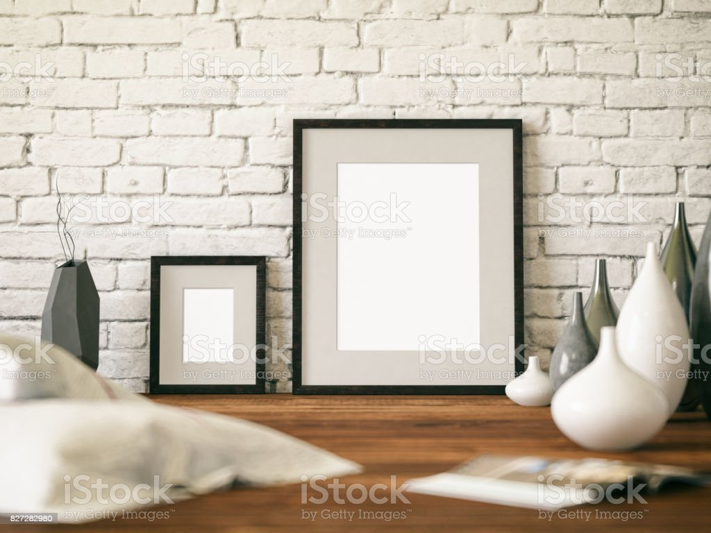 Empty Picture Frame stock photo