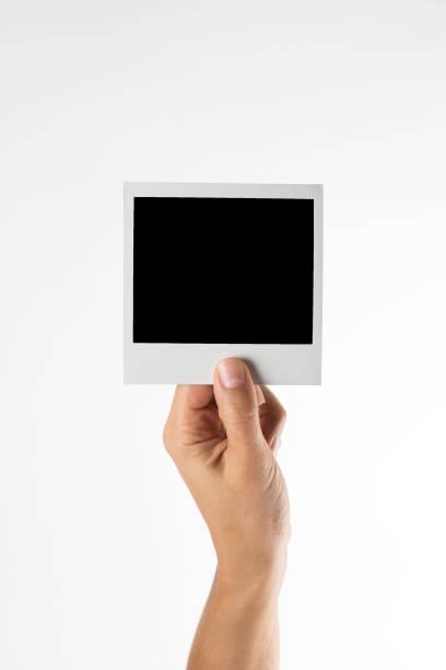 empty picture - polaroid foto e immagini stock