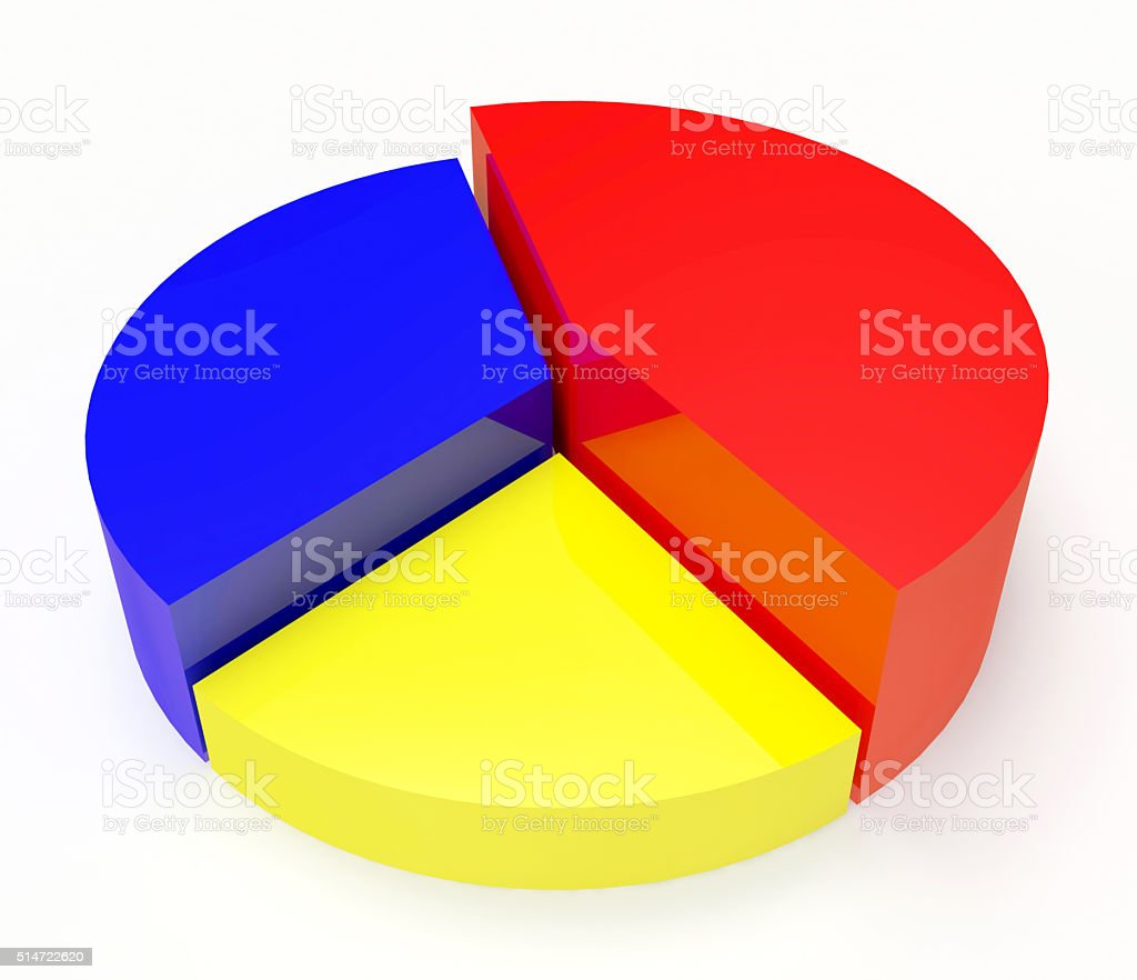 Empty pie chart graph for information or business stock photo