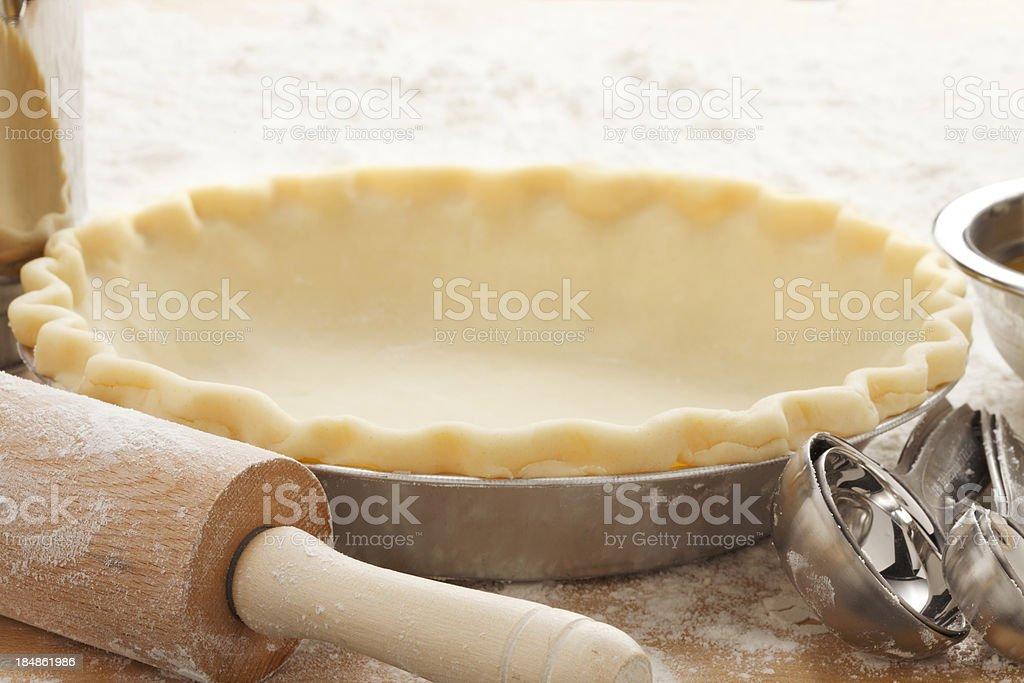 Empty Pie Crust stock photo