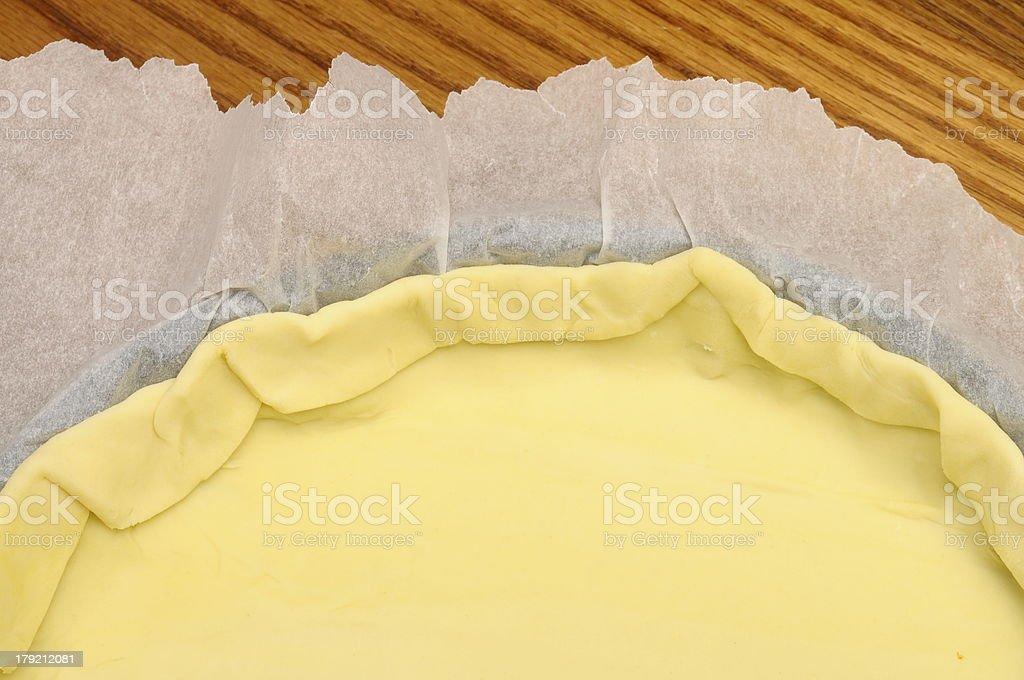 Empty pie shell stock photo