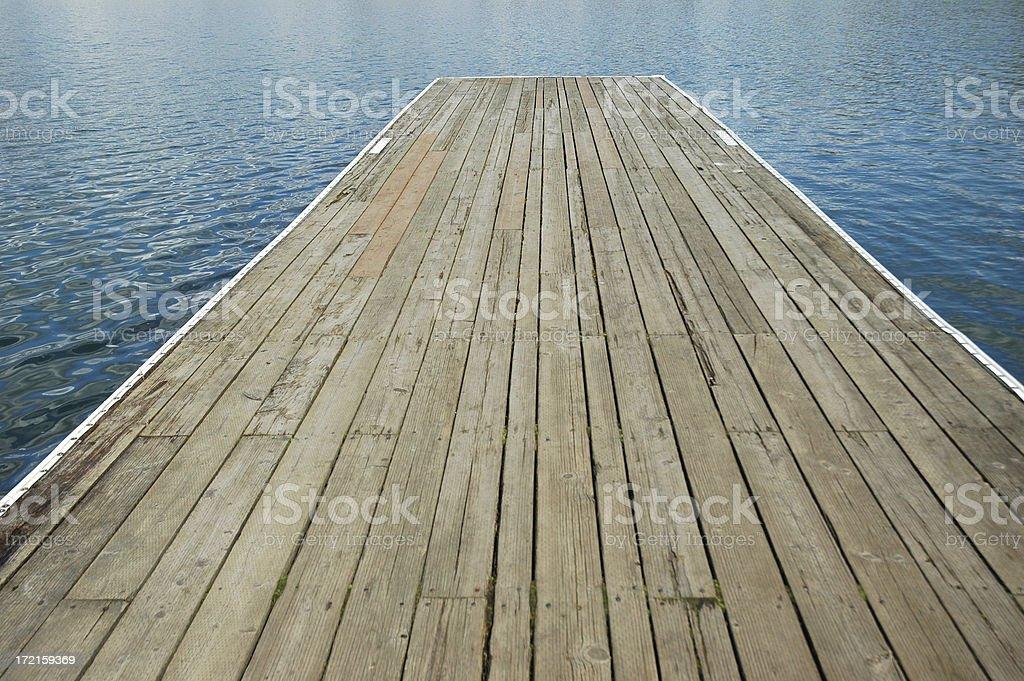 Empty pier royalty-free stock photo