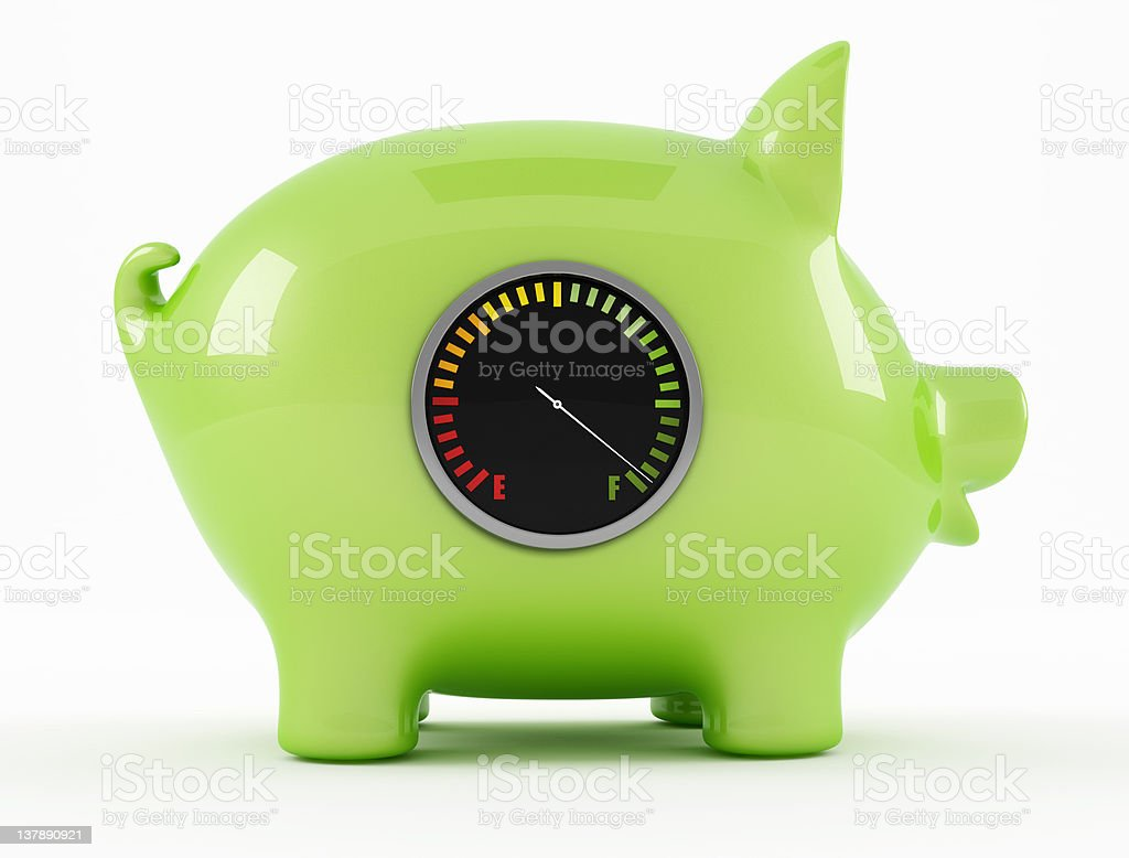empty piggy bank stock photo