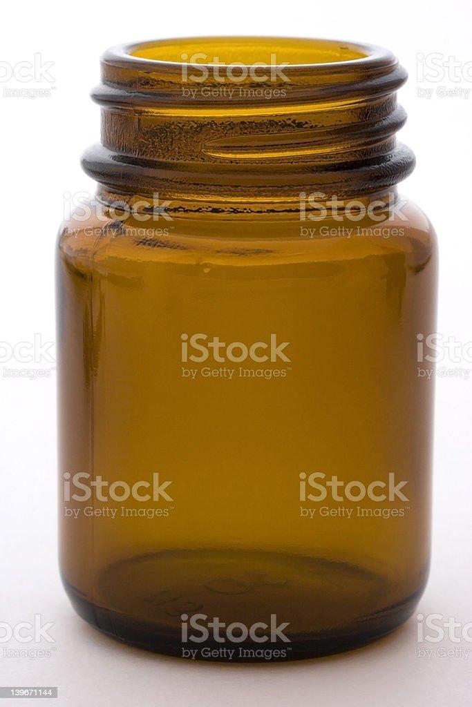 Empty pill bottle royalty-free stock photo