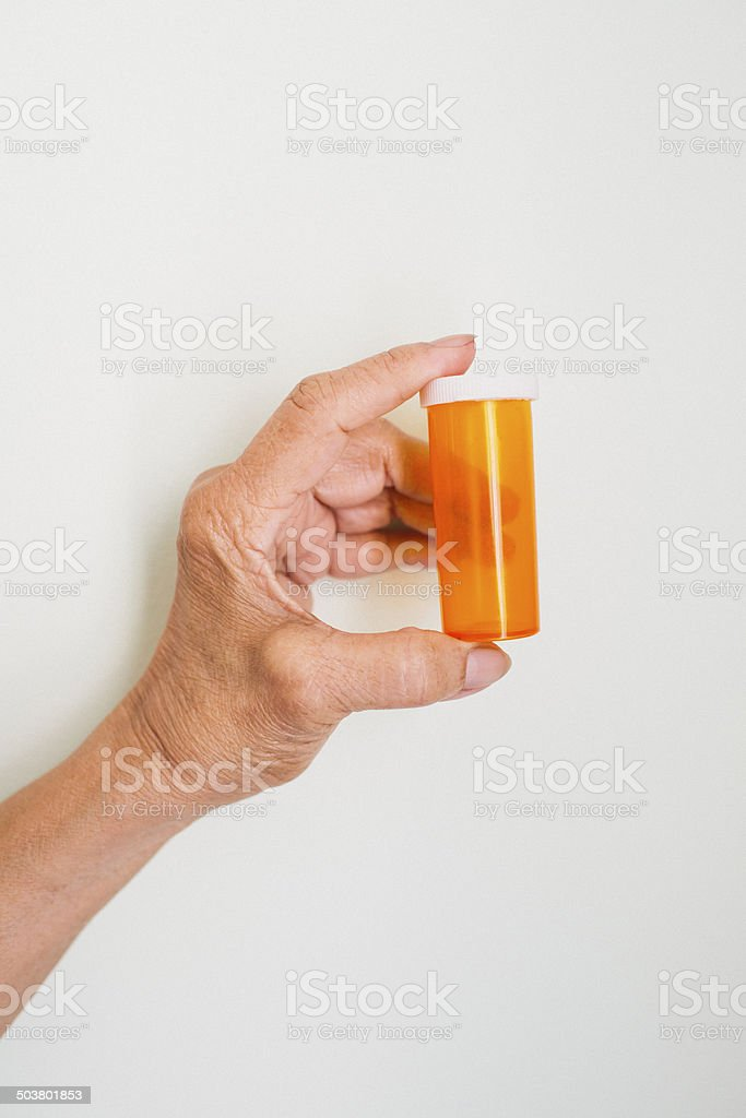 Empty Pill Container royalty-free stock photo