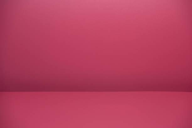 Empty Pink Room stock photo