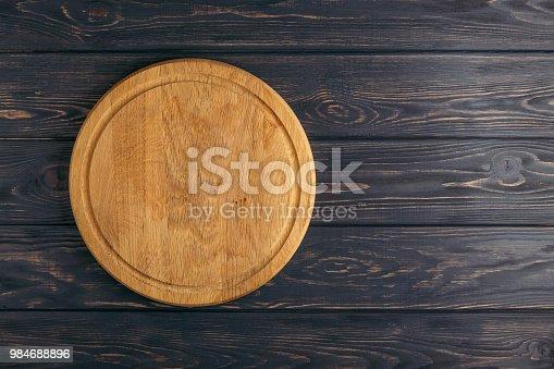 istock Empty pizza board. 984688896
