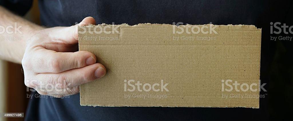 empty placard stock photo