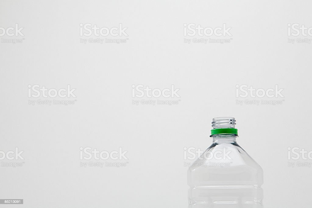 Empty plastic bottle royalty-free stock photo