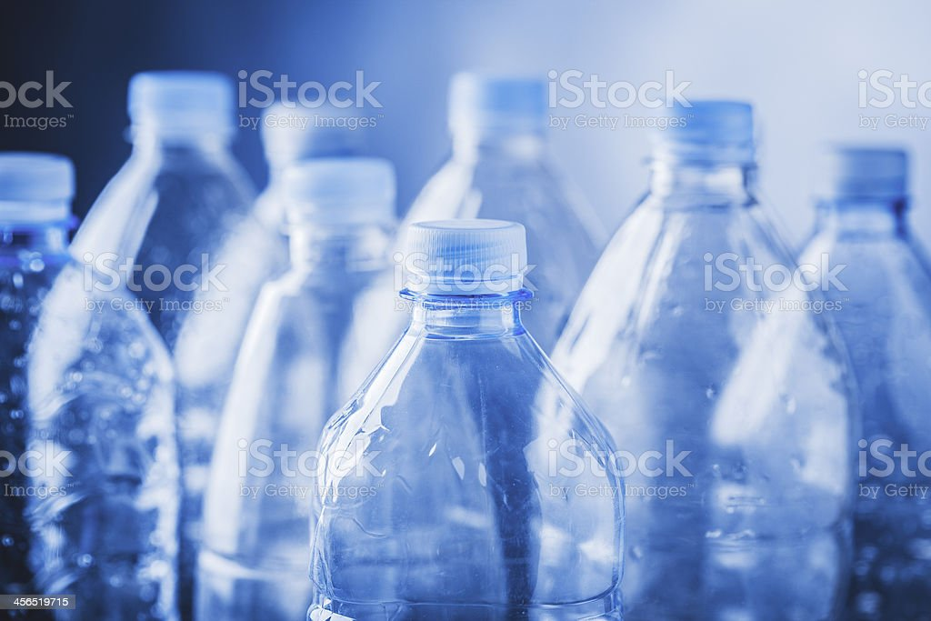 empty plastic bottles stock photo