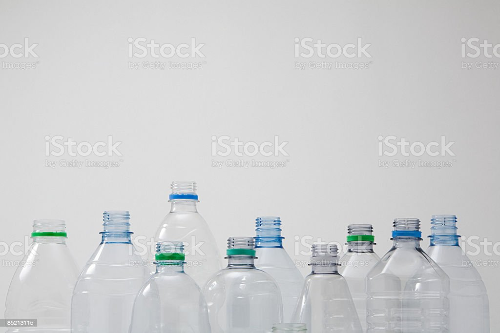 Ensemble de bouteilles en plastique photo libre de droits