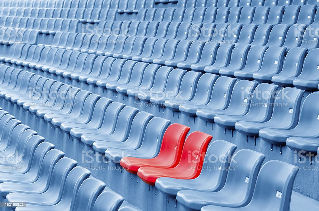Empty Plastic Chairs royalty-free stock photo