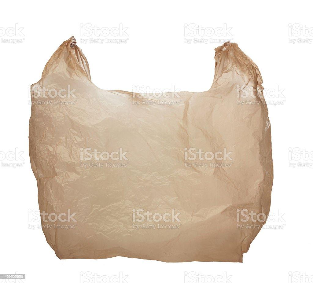 Empty Plastic Shopping Bag stock photo