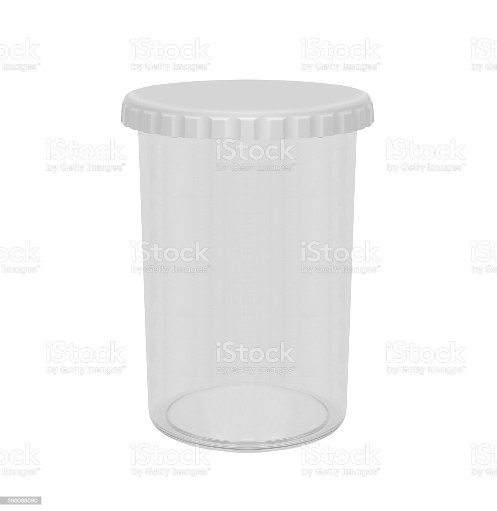 Empty plastic takeaway cup on white background royalty-free stock photo