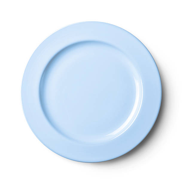 empty plate isolated on white background with clipping path - concave photos et images de collection