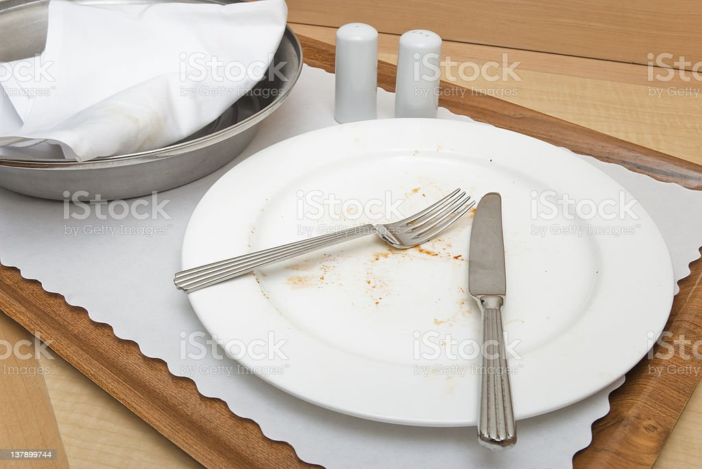 Empty Plate On A Hotel Room Service Tray Stock Photo Download Image Now Istock