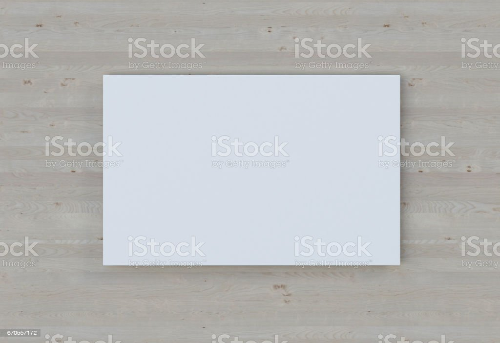 Empty plate on a wooden wall. 3D-rendering stock photo