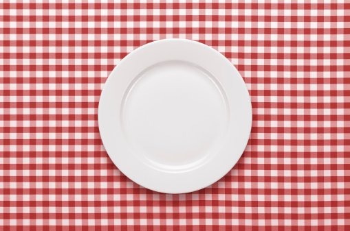Empty plate on the table