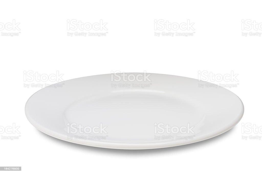 Assiette vide sur blanc - Photo